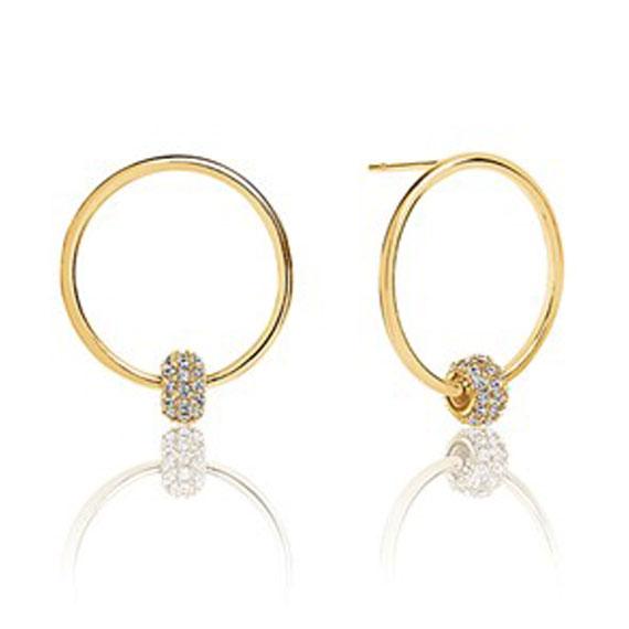 Schmuck von Juwelier Bosse, Ohrringe goldfarbig