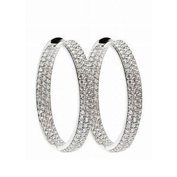 Schmuck von Juwelier Bosse, Ohrringe mit Strass-Steinen